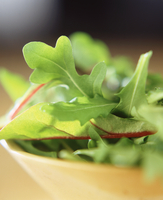Close up of salad leaves in bowl