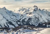 Warth skiing area, Warth, Vorarlberg, Austria