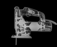 X-ray of a jigsaw power tool