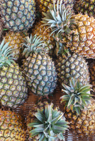 Overhead view of pineapples