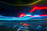Long exposure image of light trails
