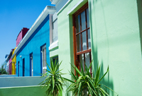 Colourful building exteriors, Bo-Kaap area, Cape Town, South Africa
