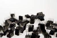 Transistors, white background
