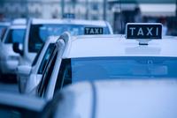 Taxis in queue, Piedmont, Turin, Italy