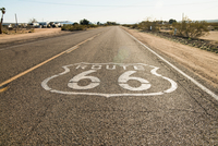 Route 66 road mark, California, USA