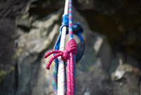 Close up of climbing rope