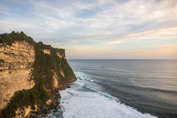 Elevated view of cliffs and sea, Uluwatu, Bali, Indonesia