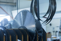 Variety of rotary blades in holder