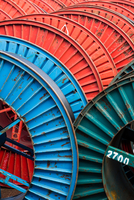 Colourful cable reels