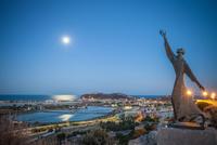 Statue of Saint Francis of Assisi overlooking Cagliari, Masua, Sardinia, Italy