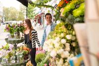 Couple at florist shop