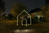 Illuminated house symbol