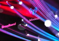 Fibre optics shooting past a broadband hub illustrating digital communications