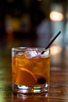 Old Fashioned cocktail, close-up
