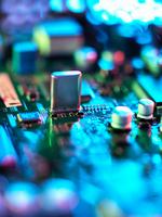 Close up of hi-tech electronic circuit board 11015302125| 写真素材・ストックフォト・画像・イラスト素材|アマナイメージズ