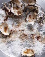 Oyster shells on sea salt 11015303173| 写真素材・ストックフォト・画像・イラスト素材|アマナイメージズ