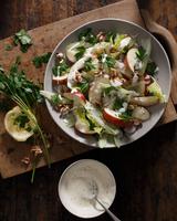 Waldorf salad in bowl 11015303180| 写真素材・ストックフォト・画像・イラスト素材|アマナイメージズ