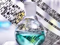DNA autoradiogram gel illustrating genetic results with laboratory glassware 11015303662| 写真素材・ストックフォト・画像・イラスト素材|アマナイメージズ
