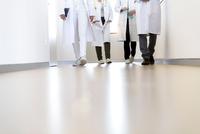 Neck down view of male and female doctors walking in hospital corridor 11015305293| 写真素材・ストックフォト・画像・イラスト素材|アマナイメージズ