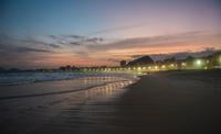 The Copacabana illuminated at sunset, Rio de Janeiro, Brazil 11015305401| 写真素材・ストックフォト・画像・イラスト素材|アマナイメージズ