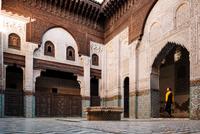 Interior of Madrasa Bou Inania, Meknes, Morocco, North Africa 11015313267| 写真素材・ストックフォト・画像・イラスト素材|アマナイメージズ