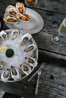 Oysters, Tomales Bay, Marin County, California, USA 11015317562| 写真素材・ストックフォト・画像・イラスト素材|アマナイメージズ