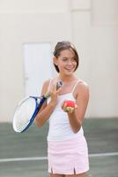 Girl playing tennis 11015321515| 写真素材・ストックフォト・画像・イラスト素材|アマナイメージズ
