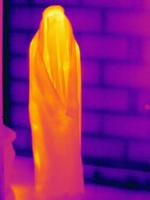 Thermal image muslim woman wearing burka 11015325254| 写真素材・ストックフォト・画像・イラスト素材|アマナイメージズ