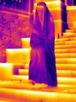 Thermal image muslim woman wearing burka 11015325257| 写真素材・ストックフォト・画像・イラスト素材|アマナイメージズ