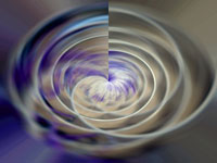abstract white and purple, circular form