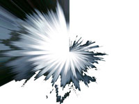 abstract black and white starburst form