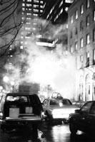 New York city traffic at night