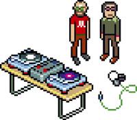 Two DJs standing