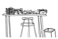 Bundles of letters on table 11016003748| 写真素材・ストックフォト・画像・イラスト素材|アマナイメージズ
