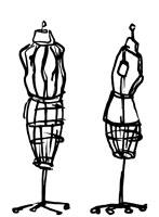 Two dressmaker's models