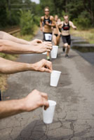 Refreshments for athletes in sports race