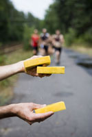 Wet sponges for triathletes
