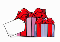 Two wrapped gifts