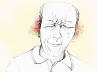A man grimacing in pain from ear pain