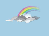Clouds and a rainbow