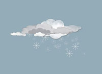 Clouds and snowflakes