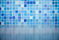 Detail of blue tiles