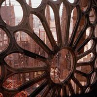 Detail of La Sagrada Familia, Barcelona, Spain