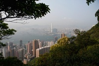 Honk Kong island and Kowloon seen from Victoria Peak