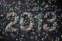 The year 2013 spelled out with confetti