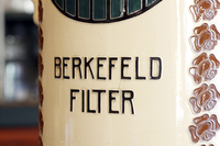 The Berkefeld filter, a bacterial water filter used in micro
