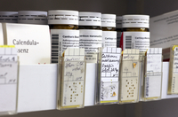 Homeopathic herbal medicine prescriptions in German pharmacy