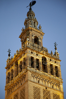 The bell tower, La Giralda, of the Seville Cathedral, Spain