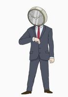 Illustration of businessman with clock head