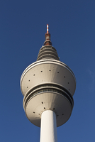 Low angle view of Heinrich Hertz radio telecommunication tower, Hamburg, Germany